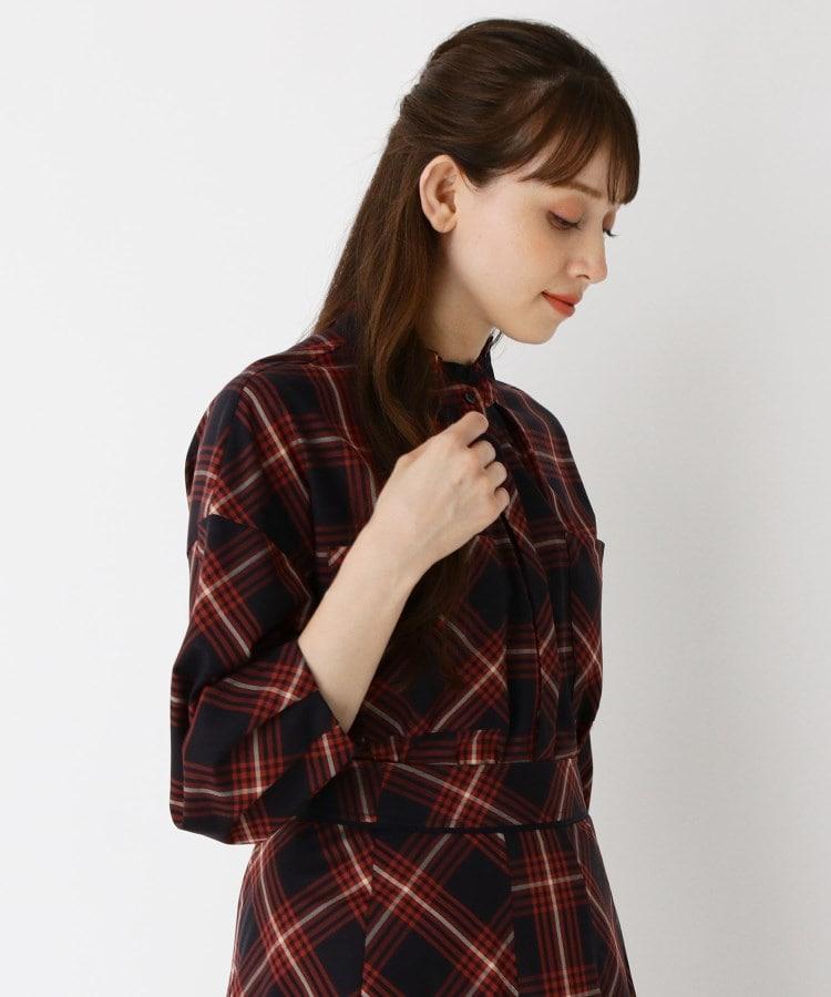 SUTSESO(スチェッソ) 【LIZA(リザ)】フリルカラーチェックシャツ
