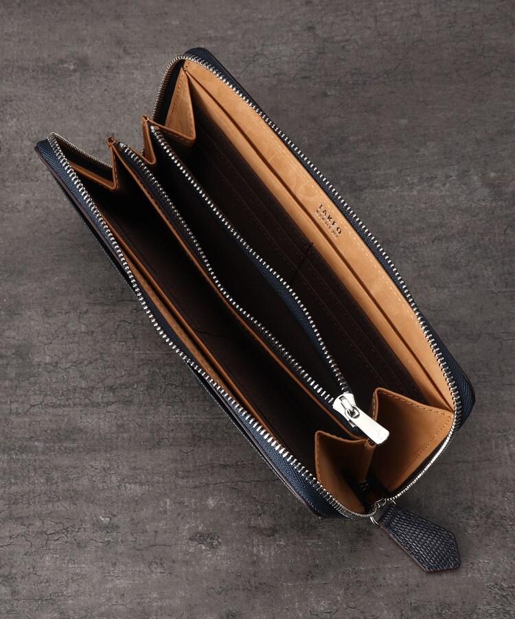 87ec794e6221 タケオキクチ(TAKEO KIKUCHI)のミニメッシュラウンドファスナー長財布 [ メンズ サイフ ジップ