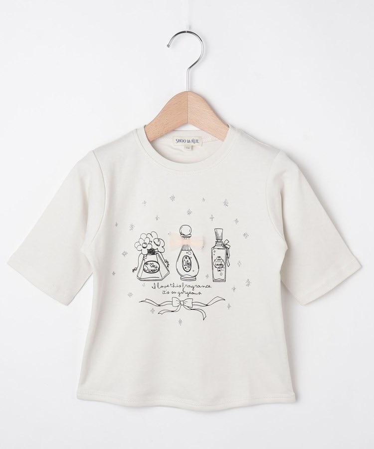 SHOO・LA・RUE/Kids(シューラルー /キッズ) 【80-130cm】オーガニックコットン5分袖ハート/香水Tシャツ
