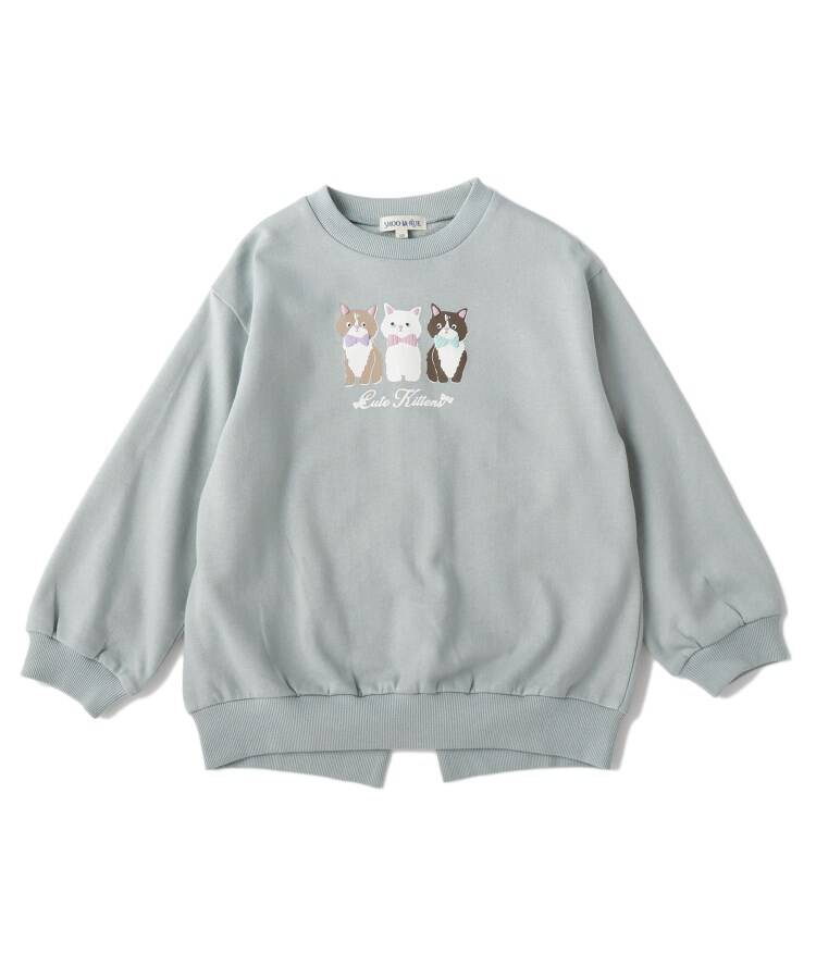 SHOO・LA・RUE/Kids(シューラルー /キッズ) 【80-130cm】バックスリットネコスウェットプルオーバー