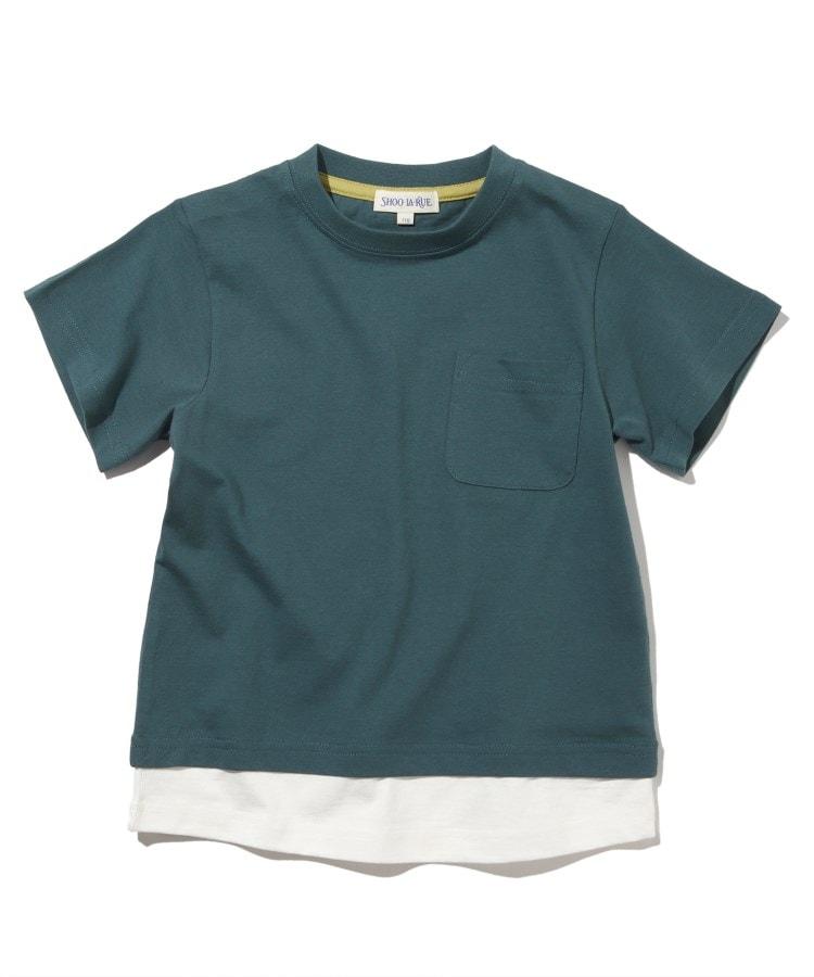 SHOO・LA・RUE/Kids(シューラルー /キッズ) 【90-130cm/オーガニックコットン】裾デザイン半袖Tシャツ