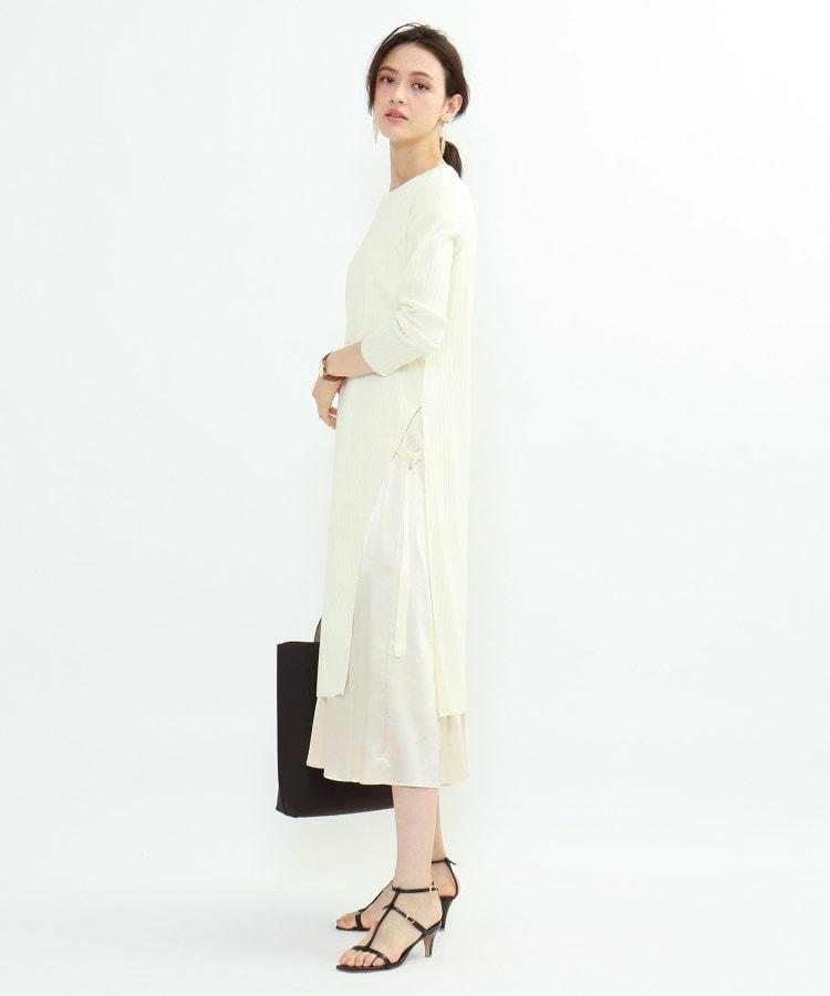 INDIVI(インディヴィ) ニットワンピース×布帛スカート セットアップ