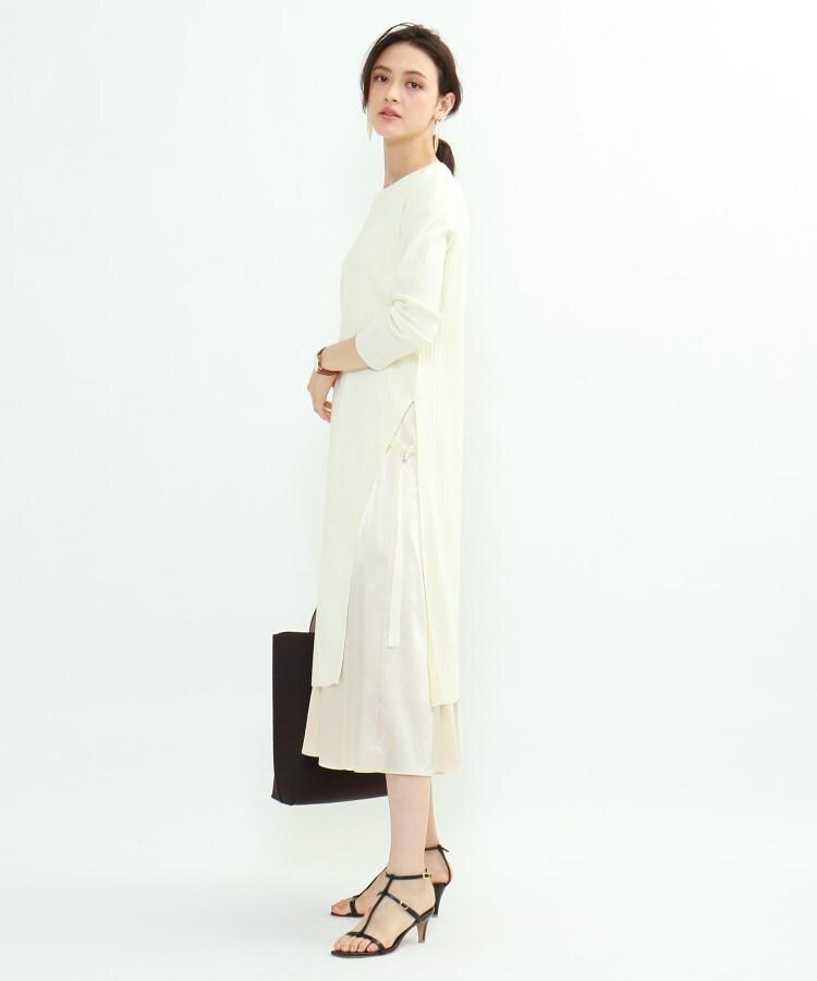 INDIVI(インディヴィ) [L]ニットワンピース×布帛スカート セットアップ