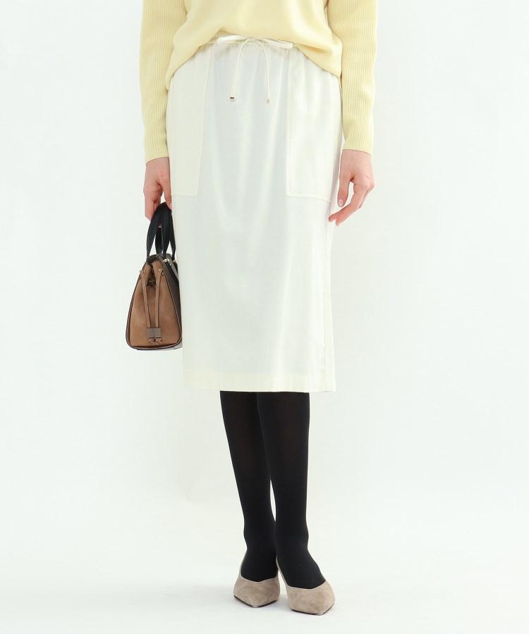 INDIVI(インディヴィ) 「L」コットンツイルタイトスカート