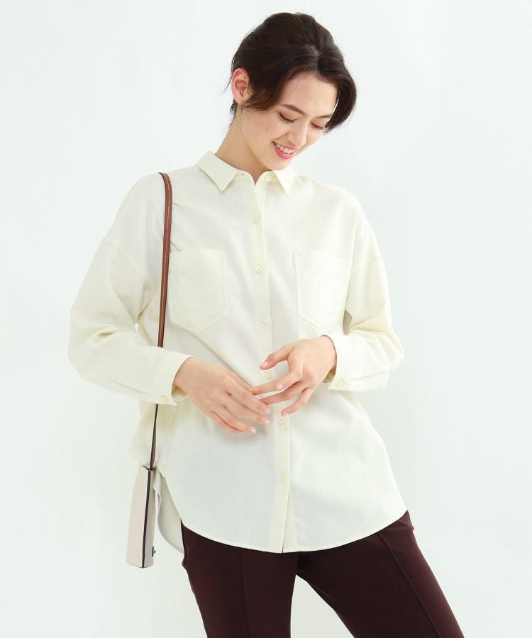 INDIVI(インディヴィ) 「L」コットンツイルシャツ