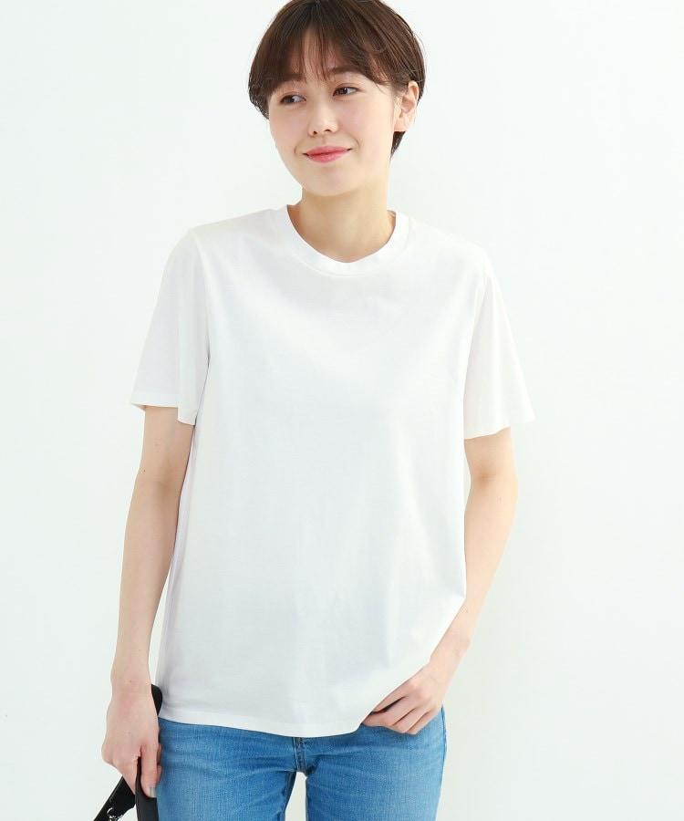 INDIVI(インディヴィ) 「L」クルーネックスムースTシャツ