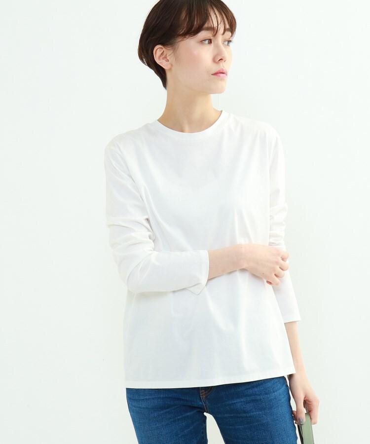 INDIVI(インディヴィ) 「L」スムースロングスリーブTシャツ