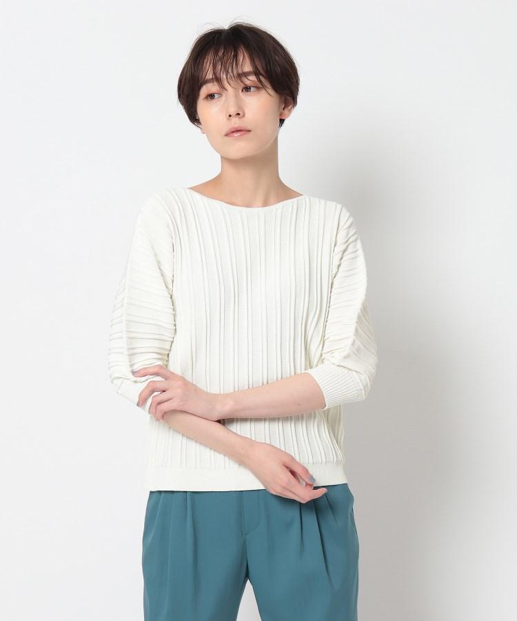 INDIVI(インディヴィ) 「L」【WEB限定カラー】ホールガーメント(R)パフスリーブニット