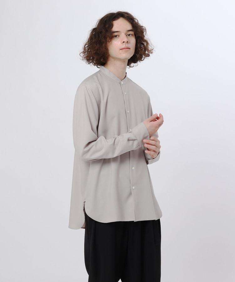 ティーケー タケオ キクチ(tk.TAKEO KIKUCHI)の【S~3L】TRバンドカラーシャツ(ユニセックスアイテム) ナチュラル(050)