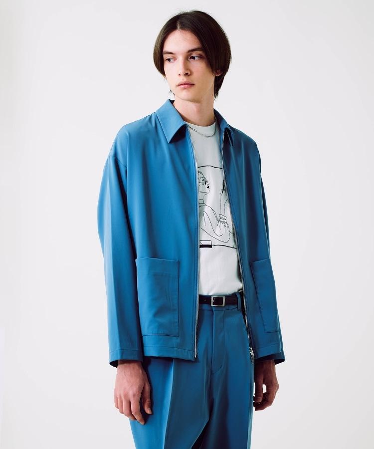 ティーケー タケオ キクチ(tk.TAKEO KIKUCHI)のバリーマンストレッチジップブルゾン ブルー(092)