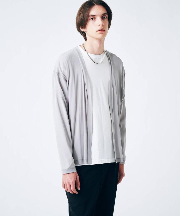 tk.TAKEO KIKUCHI(ティーケー タケオ キクチ) シアーレイヤードカーディガン(ユニセックスアイテム)