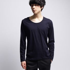 ベースコントロール(BASE CONTROL)のinner light u neck long tee Tシャツ