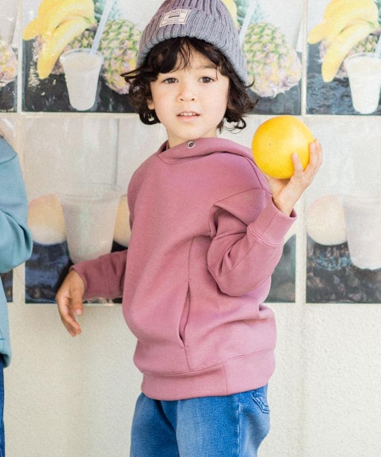 THE SHOP TK(Kids)(ザ ショップ ティーケー(キッズ)) 【003カラーのみWEB限定】【パパおそろい】【フタバフルーツ×THE SHOP TKコラボ】ダンボールプルパーカー