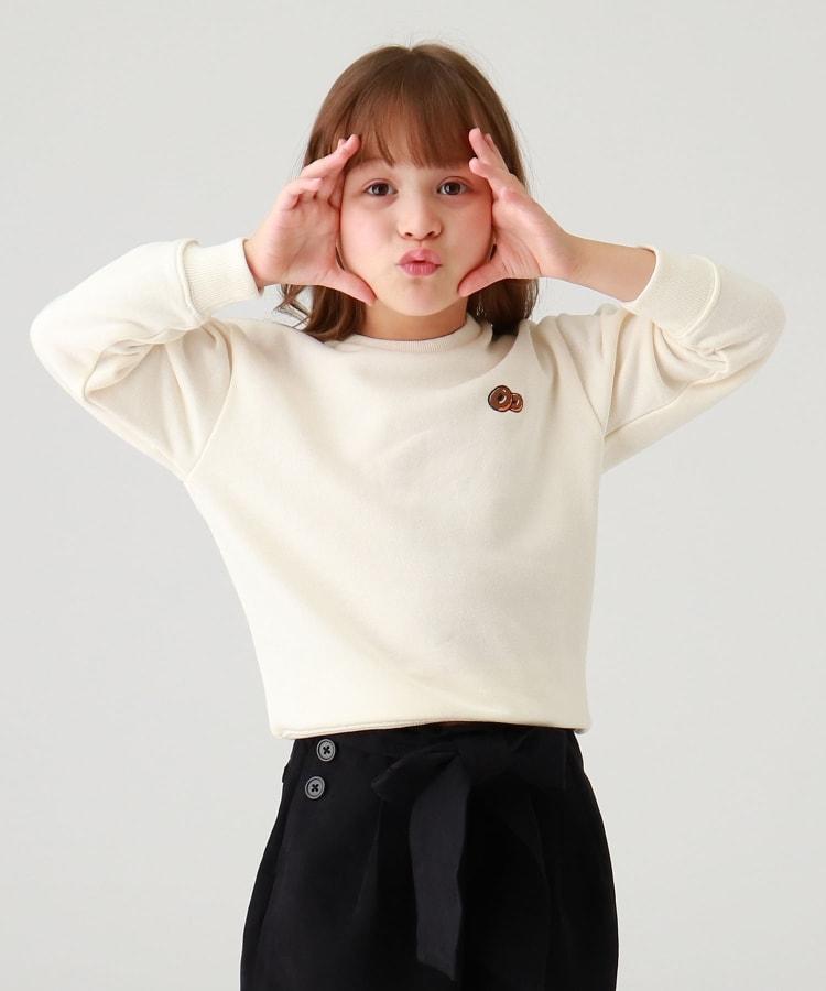 THE SHOP TK(Kids)(ザ ショップ ティーケー(キッズ)) 【WEB限定】ジャンクフード刺繍&バックプリントビックシルエットスウェット/トレーナー