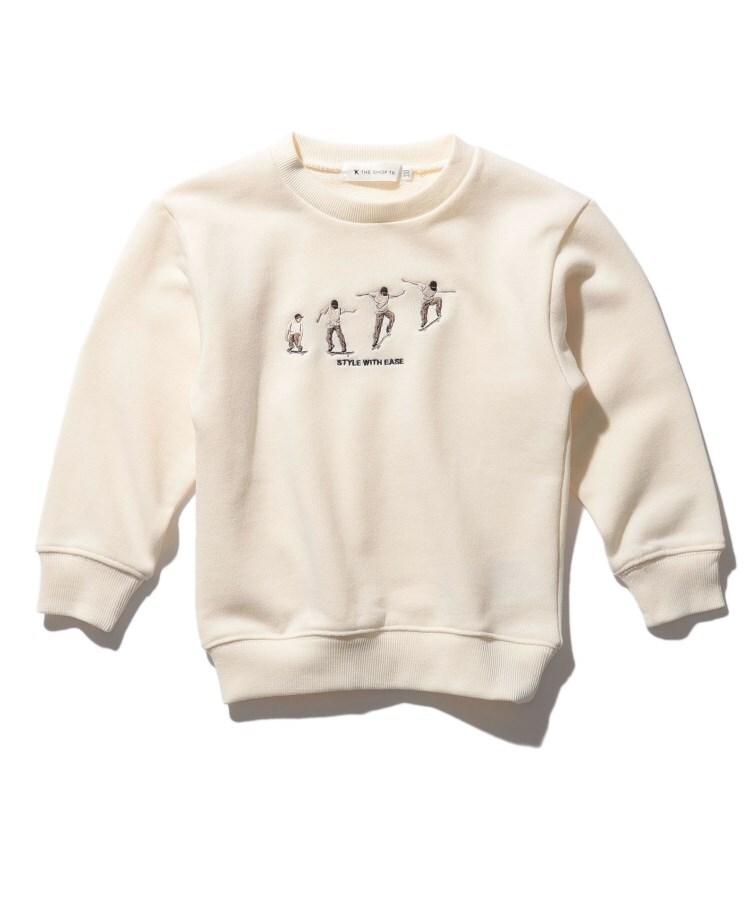 THE SHOP TK(Kids)(ザ ショップ ティーケー(キッズ)) 【WEB限定】スケート/バスケ刺繍ビックシルエットスウェット/トレーナー