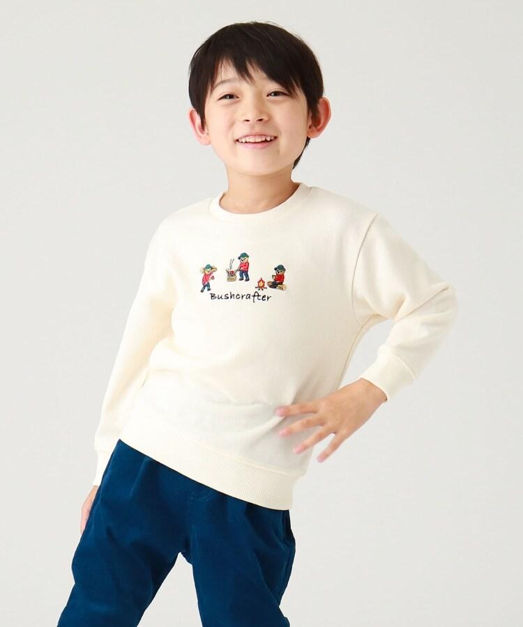 THE SHOP TK(Kids)(ザ ショップ ティーケー(キッズ)) 【WEB限定】焚火CAMP/キャンプベアー刺繍ビックシルエットスウェット/トレーナー