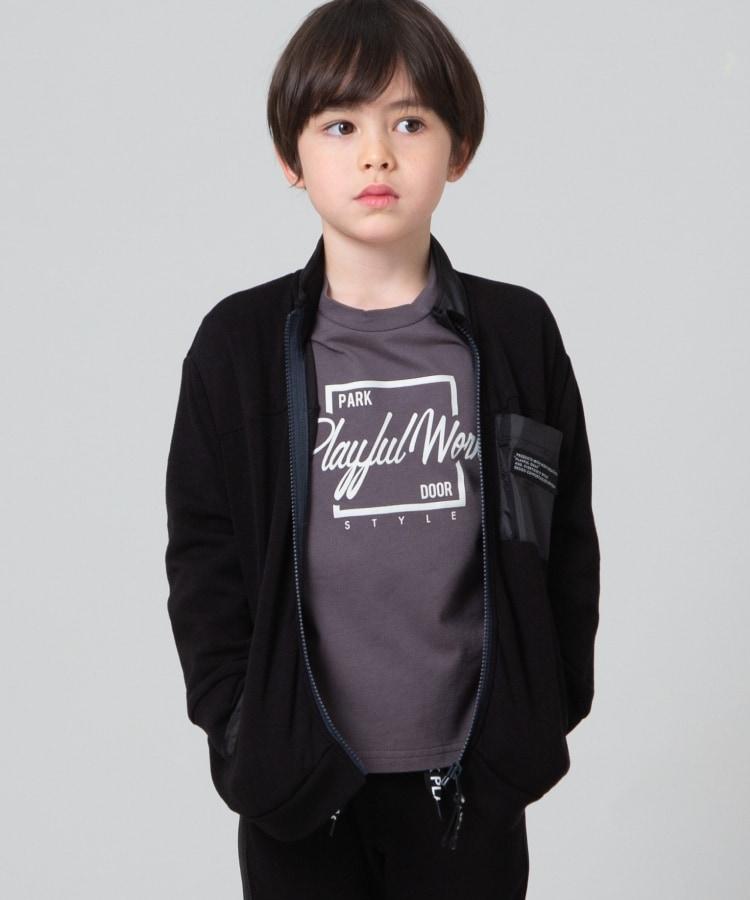 THE SHOP TK(Kids)(ザ ショップ ティーケー(キッズ)) 【140cmまで/ストレッチ/吸水速乾/UVカット】ストレッチダンボール ジップアップアウター