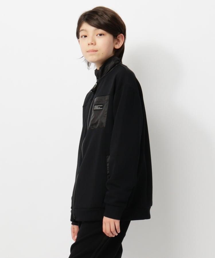 THE SHOP TK(Kids)(ザ ショップ ティーケー(キッズ)) 【150・160cm/ストレッチ/吸水速乾/UVカット】ストレッチダンボール ジップアップアウター