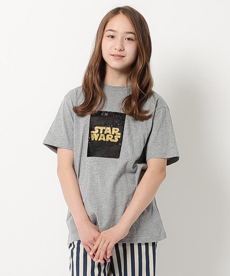 THE SHOP TK(Kids)(ザ ショップ ティーケー(キッズ)) 【160cmまで】STAR WARS/リバーシブルスパンコールTシャツ