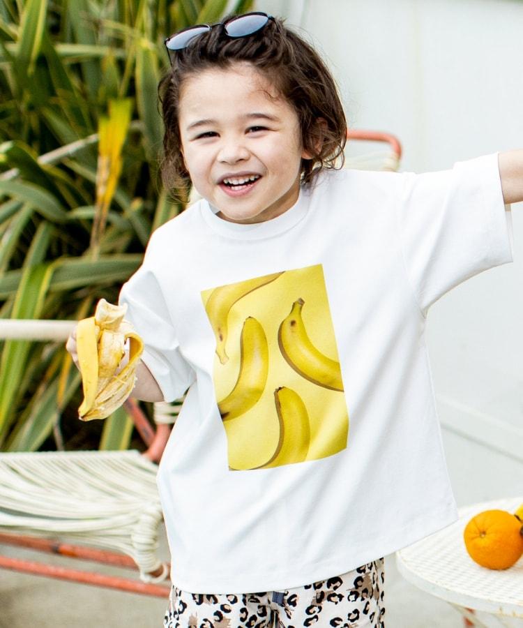 THE SHOP TK(Kids)(ザ ショップ ティーケー(キッズ)) 【パパママおそろい】【接触冷感】フタバフルーツコラボフォトTシャツ