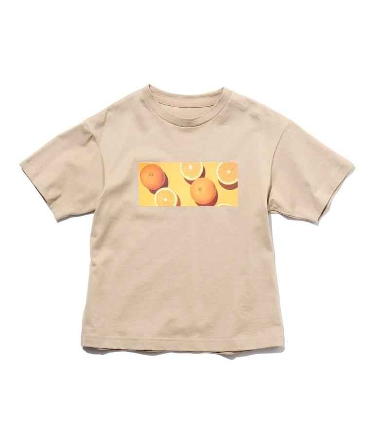 THE SHOP TK(Kids)(ザ ショップ ティーケー(キッズ)) 【150・160cm】【パパママおそろい】【接触冷感】フタバフルーツコラボフォトTシャツ