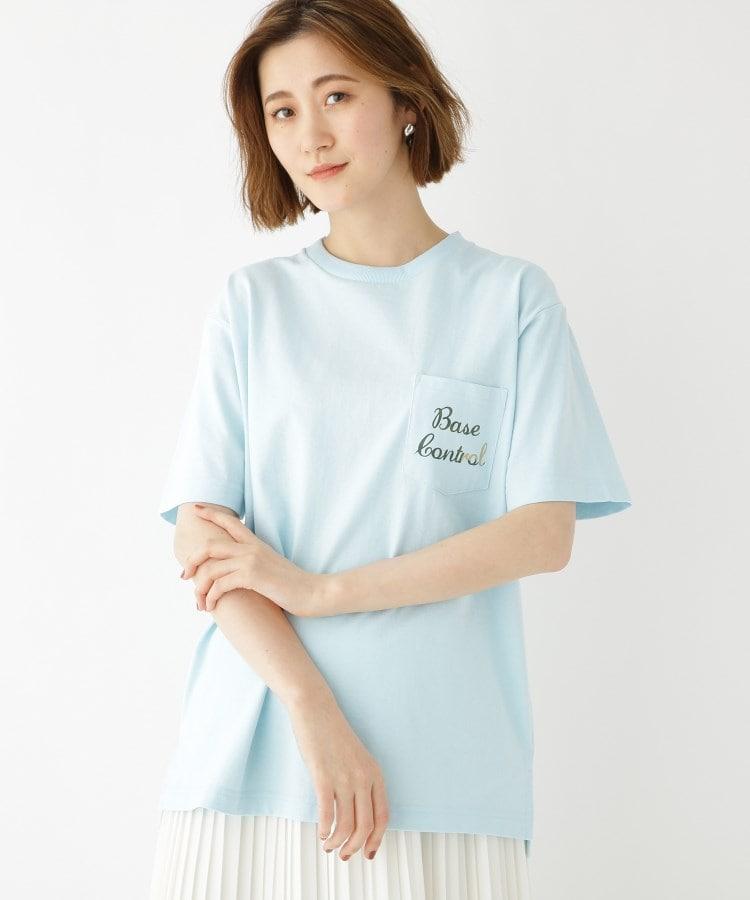 BASE CONTROL LADYS(ベース コントロール レディース) カモフラ柄 ロゴ プリント 半袖 Tシャツ