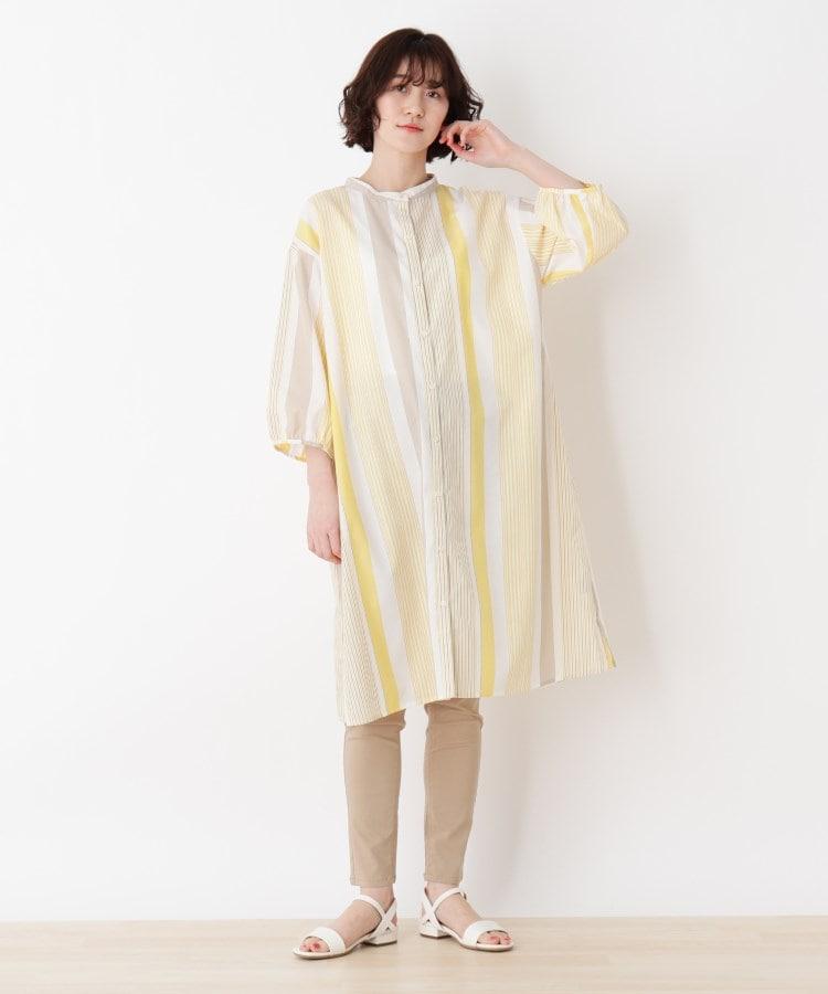 SHOO・LA・RUE/Mrs.(シューラルー/ミセス) ひんやりドビーストライプAラインワンピース