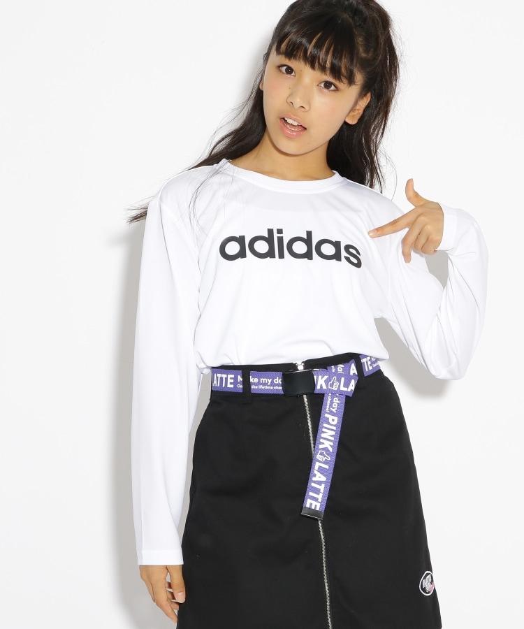 PINK-latte(ピンク ラテ) adidas ロゴ長袖Tシャツ