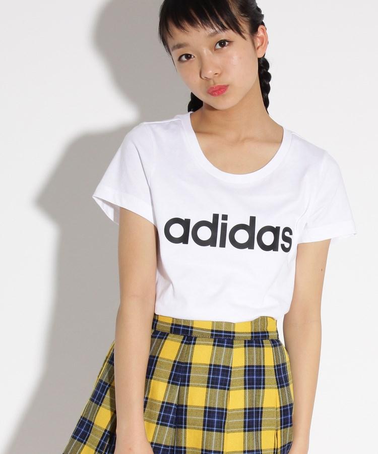 PINK-latte(ピンク ラテ) 【adidas/アディダス】 ロゴTシャツ
