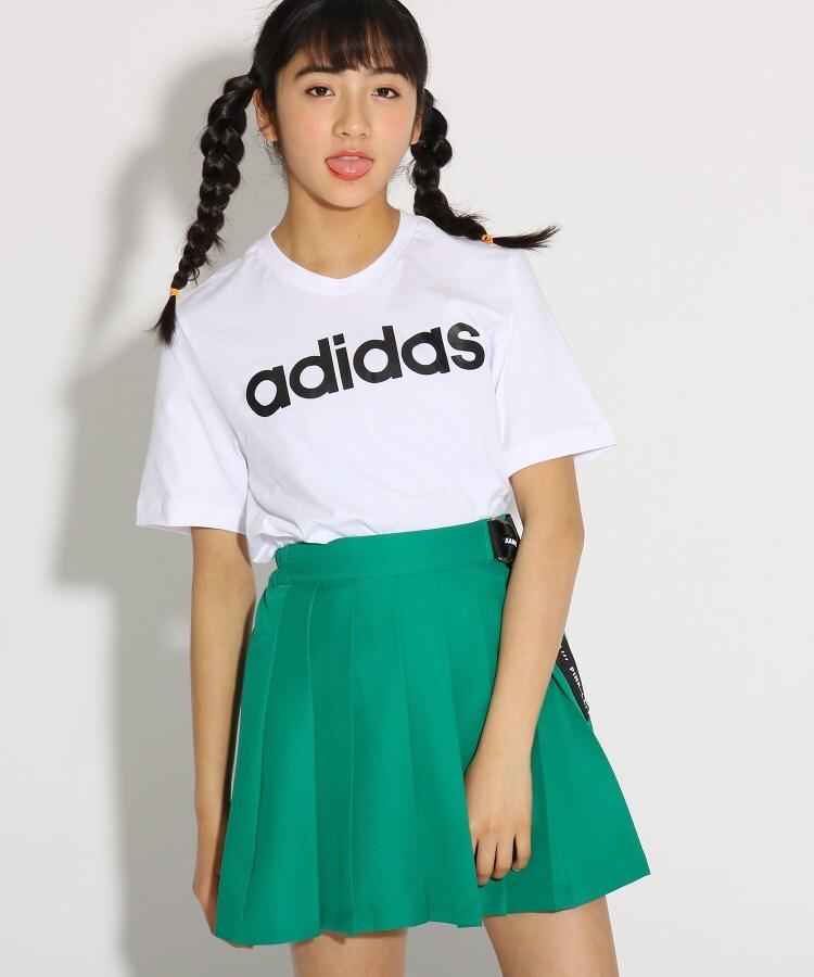 PINK-latte(ピンク ラテ) 【adidas/アディダス】 COREリニアTシャツ