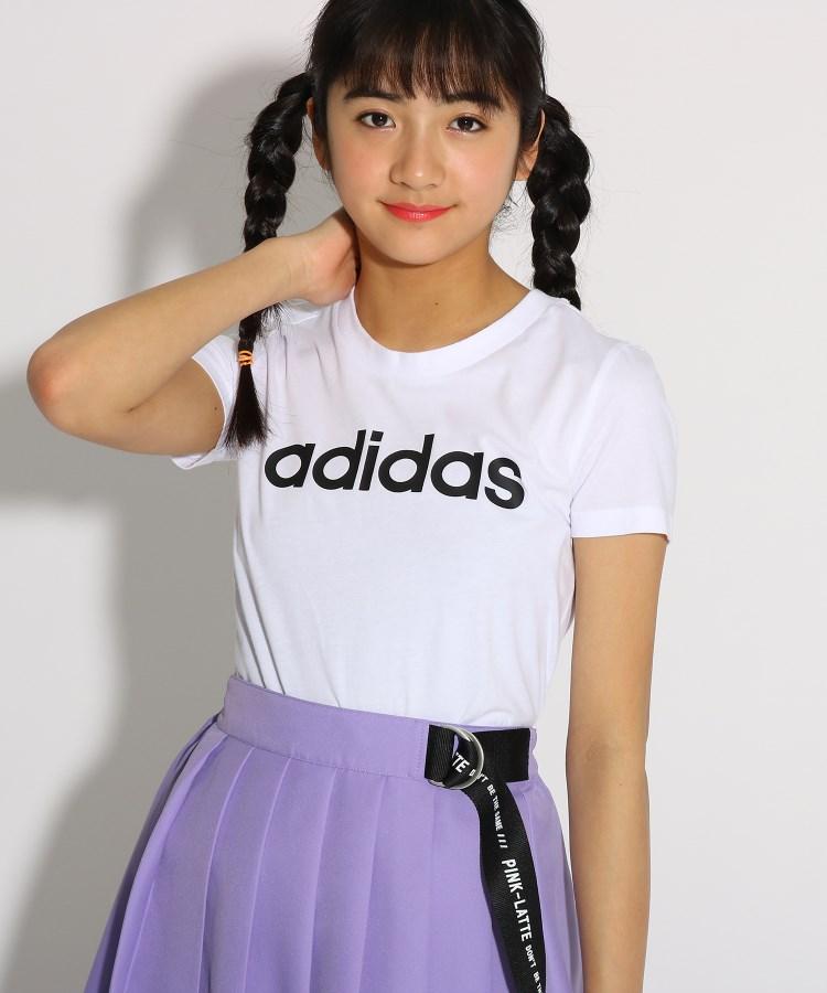 PINK-latte(ピンク ラテ) 【adidas/アディダス】 ベーシックロゴTシャツ