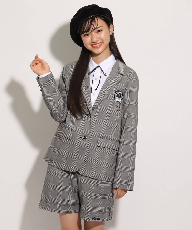 PINK-latte(ピンク ラテ) 【卒服】ロングジャケット/マウスカバー付き