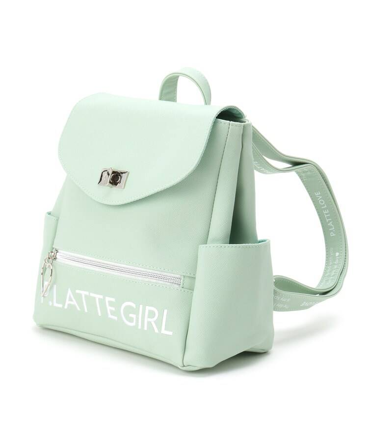 PINK-latte(ピンク ラテ) ハートフープ合皮ミニリュック