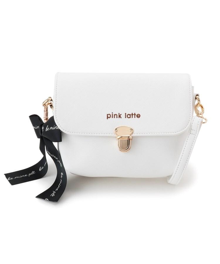 PINK-latte(ピンク ラテ) BIGリボン付き豆刺しショルダー