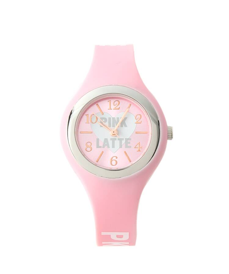 PINK-latte(ピンク ラテ) ラバーミルキーラブ 腕時計