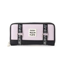 ピンク ラテ(PINK,latte)のロゴベルト長財布