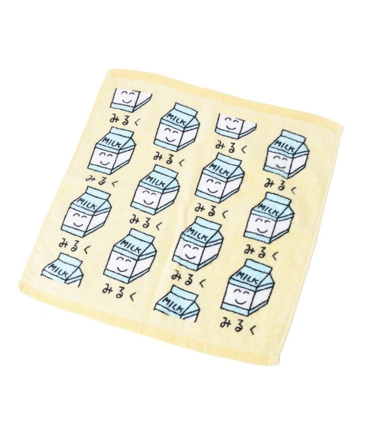 PINK-latte(ピンク ラテ) プリント ハンドタオル