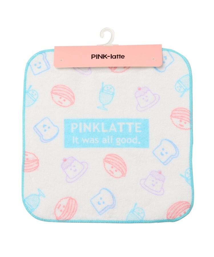 PINK-latte(ピンク ラテ) プリントハンドタオル