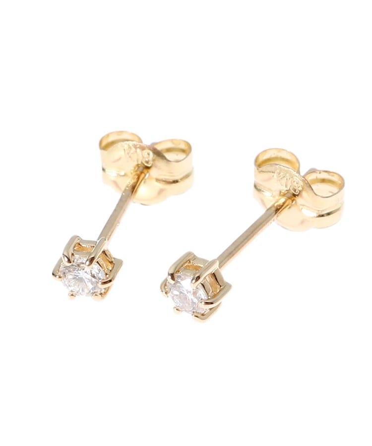 COCOSHNIK(ココシュニック) K18ダイヤモンド 6本爪 スタッドピアス