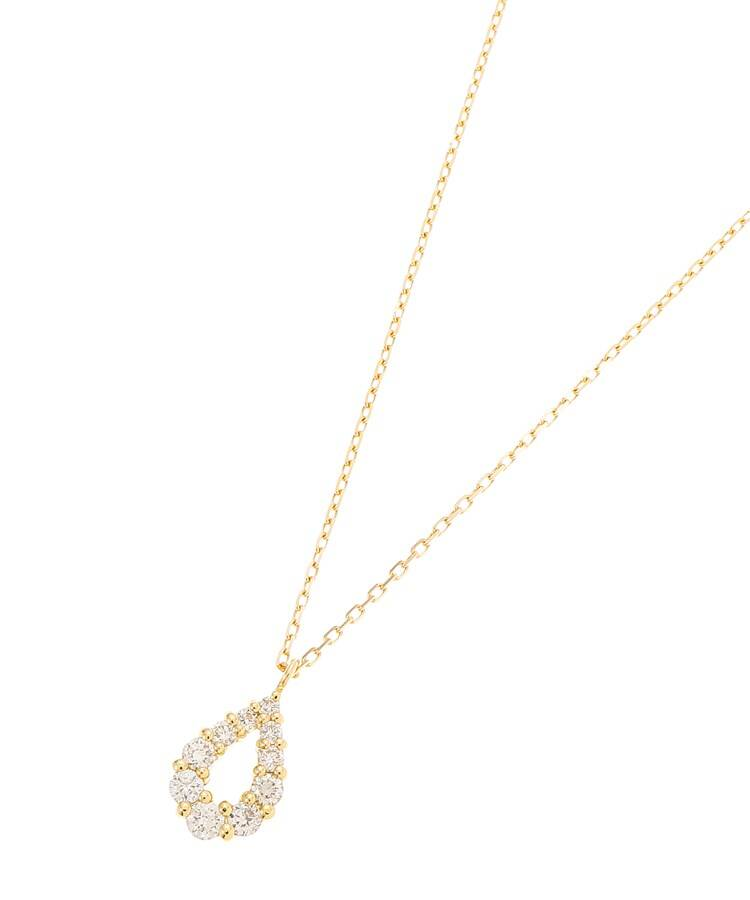 COCOSHNIK(ココシュニック) K18ダイヤモンド グラデペアシェイプ ネックレス大