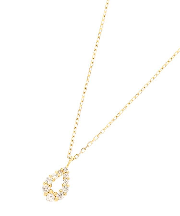 COCOSHNIK(ココシュニック) K18ダイヤモンド グラデペアシェイプ ネックレス小