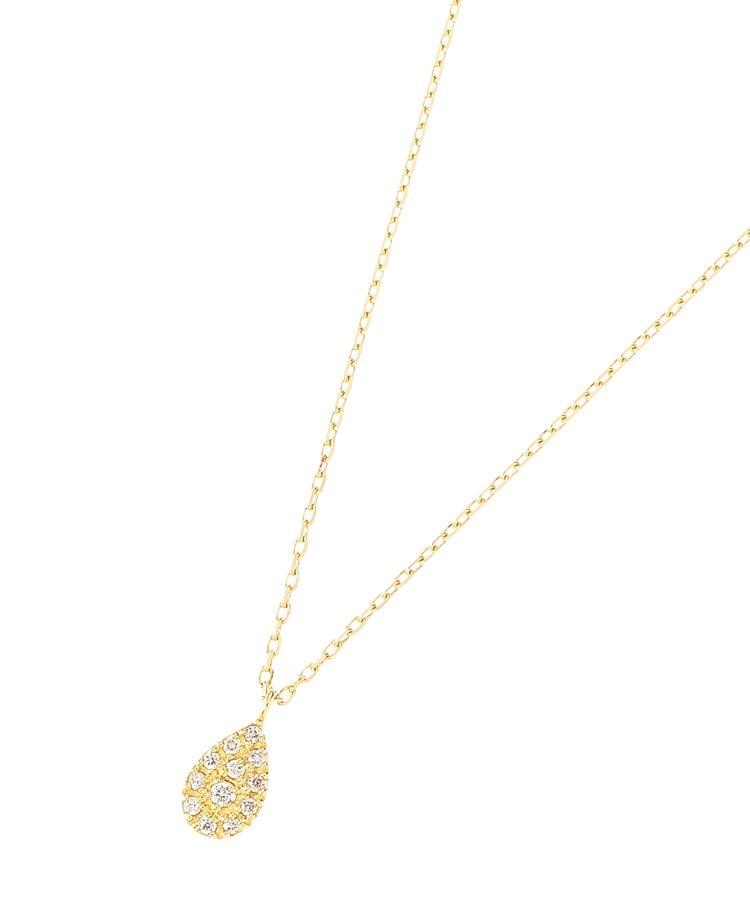 COCOSHNIK(ココシュニック) K18ダイヤモンド パヴェペアシェイプ ネックレス小