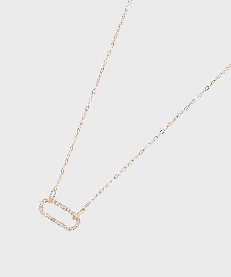 COCOSHNIK(ココシュニック) ダイヤモンド チェーンリンク ネックレス大