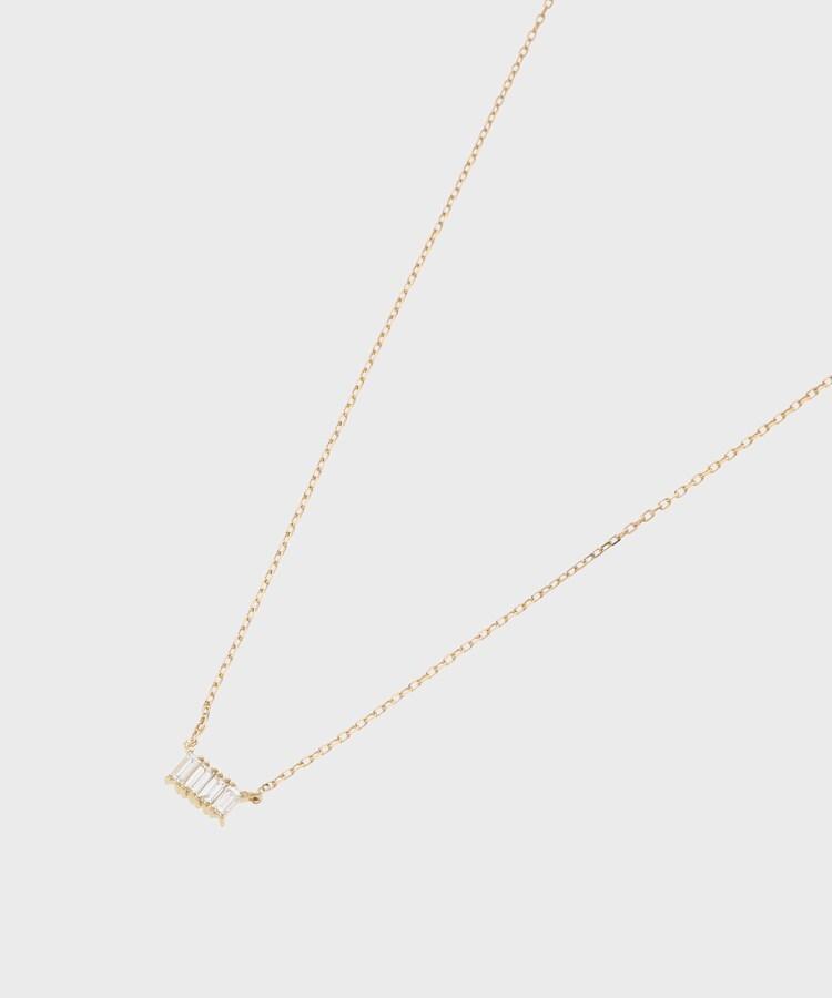 COCOSHNIK(ココシュニック) K18ダイヤモンド バゲットカット4石 ネックレス