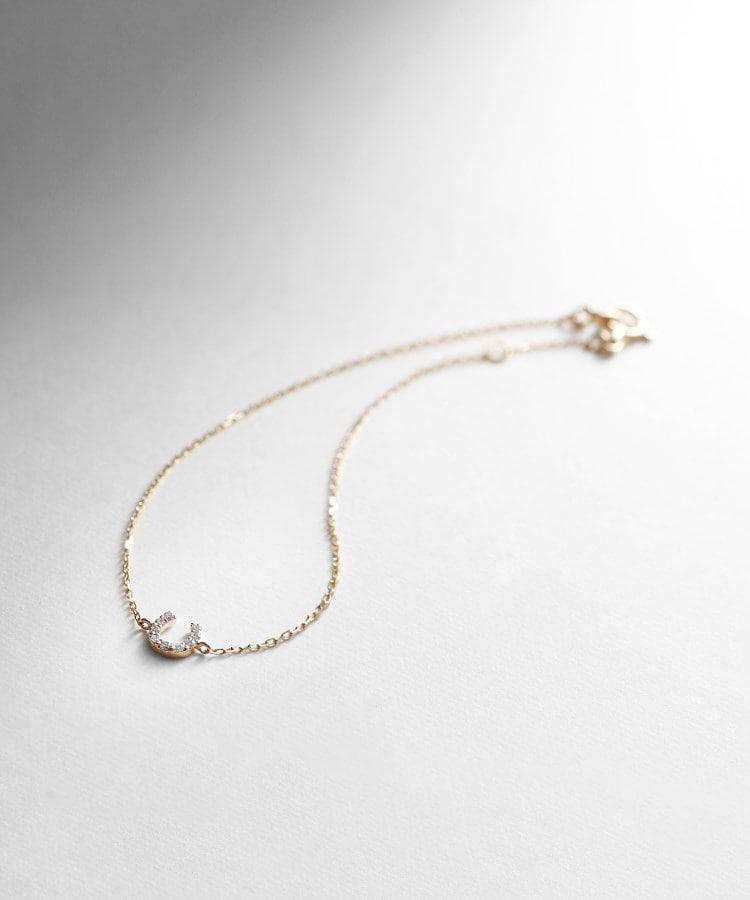 COCOSHNIK(ココシュニック) ダイヤモンド馬蹄モチーフ ブレスレット