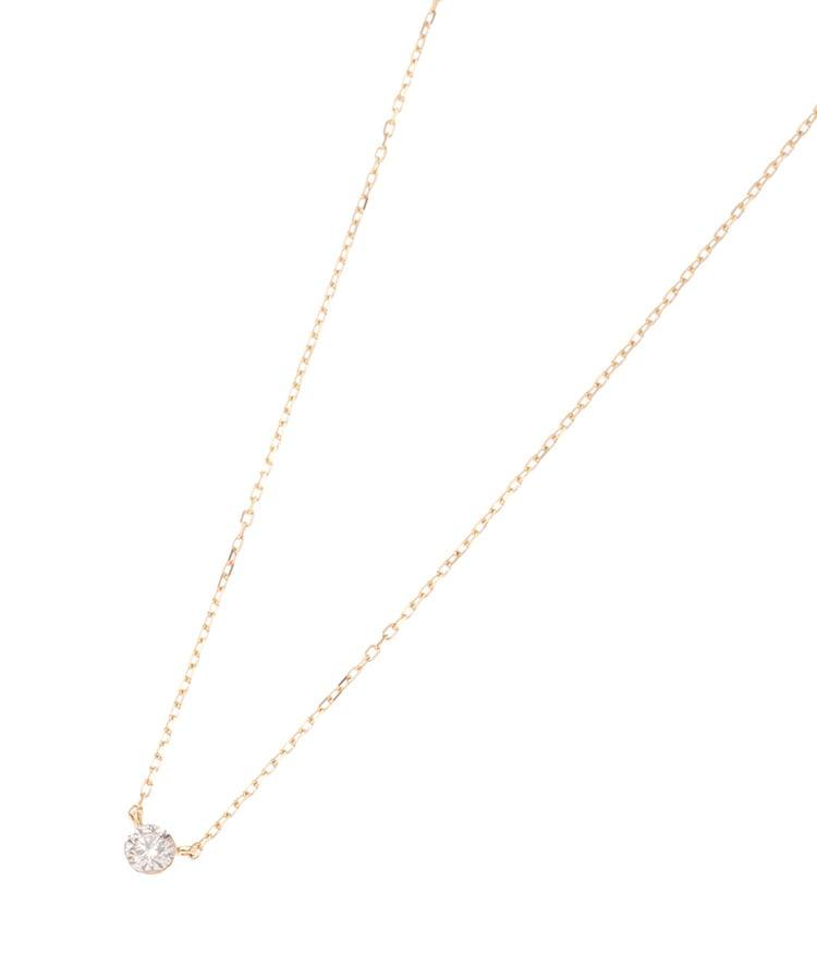 COCOSHNIK(ココシュニック) K18 ダイヤモンドシークレット留 ネックレス