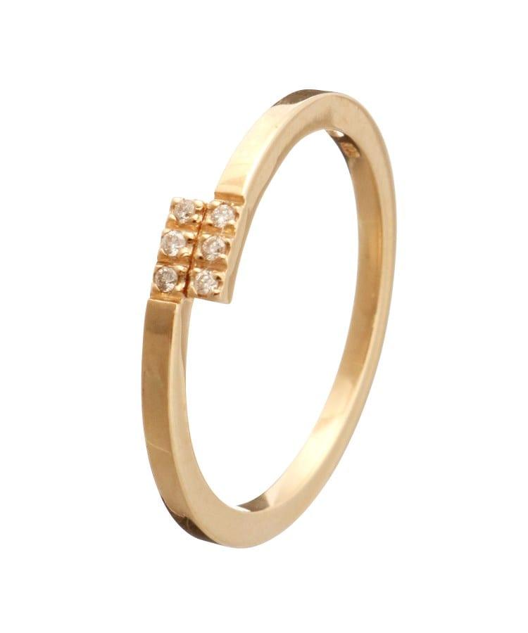 COCOSHNIK(ココシュニック) ダイヤモンド オーバーラップ ピンキーリング