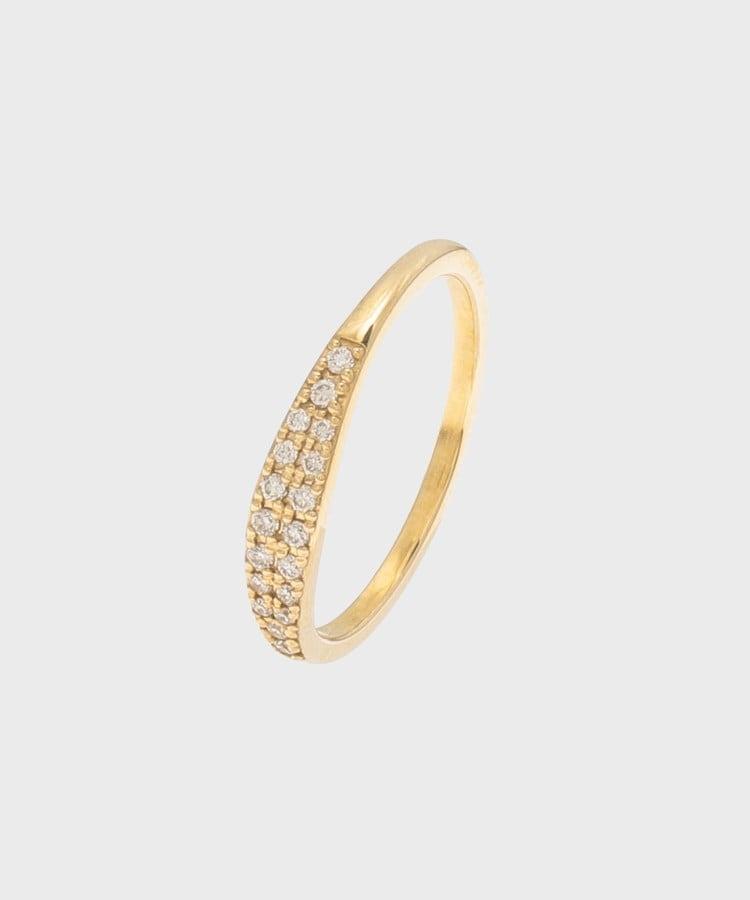 COCOSHNIK(ココシュニック) ダイヤモンド マーキースシグネット ピンキーリング