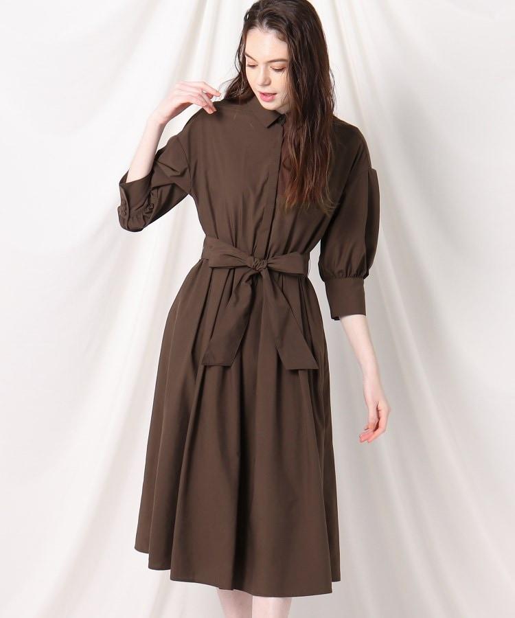 Couture Brooch(クチュールブローチ) 【洗える】ボリュームスリーブシャツワンピース