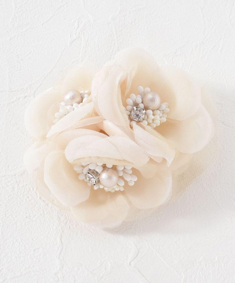 Couture Brooch(クチュールブローチ) チュールトリプルフラワーコサージュ